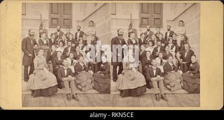 Annual Class of Syracuse University, July 1876. Robert N. Dennis collection of stereoscopic views United States States New York Stereoscopic views of - Stock Photo