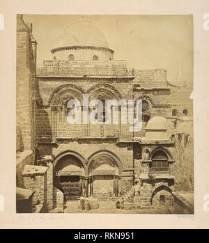 Church of Holy Sepulcre. Robertson & Beato (Photographer). Palestine.]. Date Created: 1857. Jerusalem churches - Jerusalem Church of the Holy - Stock Photo