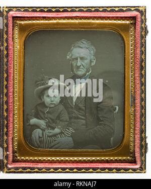 Untitled - c. 1850 - Artist unknown American, 19th century - Artist: Unknown, Origin: United States, Date: 1845–1855, Medium: Daguerreotype, - Stock Photo