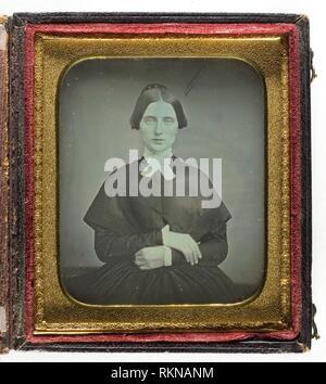 Untitled - c. 1850 - Artist unknown Probably American, 19th century - Artist: Unknown, Origin: United States, Date: 1845–1855, Medium: Daguerreotype, - Stock Photo
