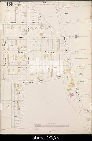 Bronx, V. A, Plate No. 19 [Map bounded by Virginia Ave., Beacon St., Cornell Ave.]. Sanborn Map Company (Publisher). Atlases of New York City New