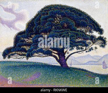 The Bonaventure Pine (1893) by Paul Signac, 1863–1935. The Museum of Fine Arts, Houston, USA. - Stock Photo