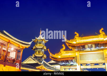 Zhouzhuang, Chinese ethnic style buildings and towers