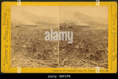 Body found after explosion, Johnstown, Pa. Additional title: Johnstown and Conemaugh Valley, Pa., disaster. May 31, 1889. Webster & Albee - Stock Photo
