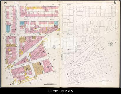 Brooklyn V. 2, Plate No. 19 [Map bounded by Montague St., Henry St., Clark St., Tillary St., Adams St., Myrtle Ave.]. Sanborn Map Company