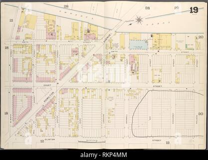 Brooklyn, V. 1, Double Page Plate No. 19 [Map bounded by Gowanus Canal, Halleck St., Clinton St., W.9th St.]. Sanborn Map Company (Publisher).