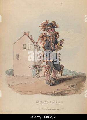 Chimney-sweeper on the first of May. Alexander, William, 1767-1816 (Author). Picturesque representations of the dress and manners of the English: - Stock Photo