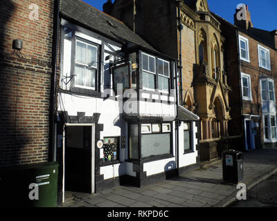 The Dun cow public house, a grade two listed fifteenth century town pub in Durham, England UK - Stock Photo