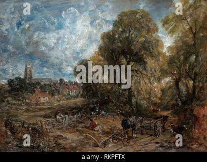 Stoke-by-Nayland - 1836 - John Constable English, 1776-1837 - Artist: John Constable, Origin: England, Date: 1836, Medium: Oil on canvas, Dimensions: - Stock Photo