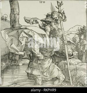 Saint Christopher - 1511 - Albrecht Dürer German, 1471-1528 - Artist: Albrecht Dürer, Origin: Germany, Date: 1511, Medium: Woodcut in black on ivory - Stock Photo