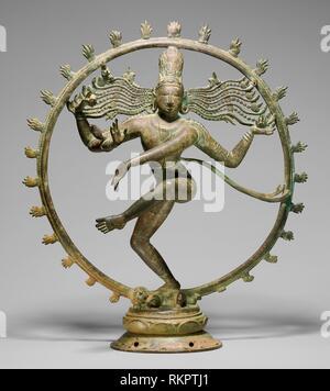Shiva as Lord of the Dance (Nataraja) - Chola period, about 10th/11th century - India Tamil Nadu - Origin: Tamil Nadu, Date: 901 AD–1100, Medium: - Stock Photo
