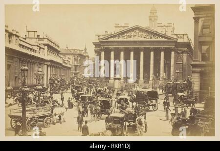 The Royal Exchange - 1850-1900 - Artist unknown probably English, 19th century - Artist: Unknown, Origin: England, Date: 1850-1900, Medium: Albumen - Stock Photo