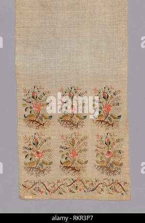 Sash - 18th/19th century - Turkey - Origin: Turkey, Date: 1701–1900, Medium: With ends embroidered in colored silks, Dimensions: 213.6 x 35.4 cm (84 - Stock Photo