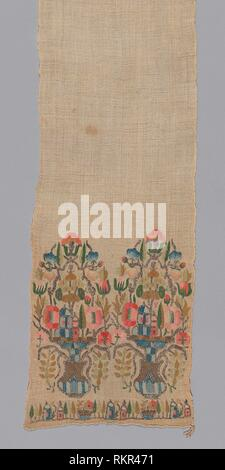 Sash - 19th century - Turkey - Artist: Anonymous, Origin: Turkey, Date: 1801–1900, Medium: Sash, with ends embroidered in floral design in silks and - Stock Photo