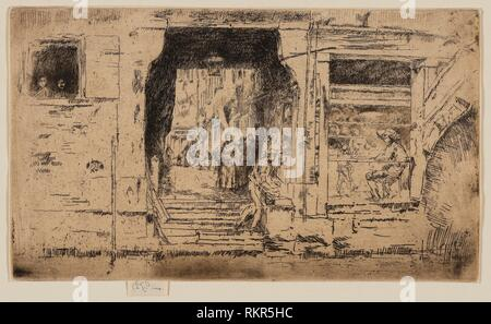 The Fish Shop, Venice - 1879/80 - James McNeill Whistler American, 1834-1903 - Artist: James McNeill Whistler, Origin: United States, Date: - Stock Photo