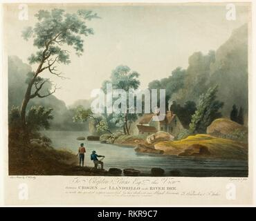 Between Crogen & Llandrillo on the R. Dee - published 1793 - Francis Jukes English, 1745-1812 - Artist: Francis Jukes, Origin: England, Date: 1793, - Stock Photo