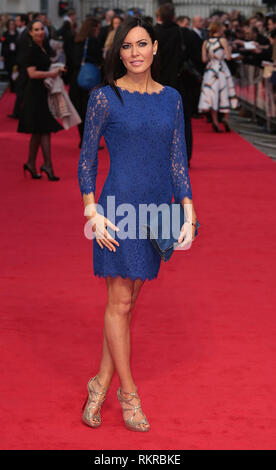 London, UK, 2nd April 2014 Linzi Stoppard attends the UK Gala Screening of 'The Other Woman' at The Curzon Mayfair - Stock Photo