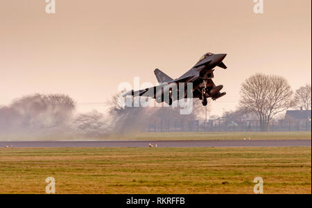 Typhoon at RAF Coninsby - Stock Photo
