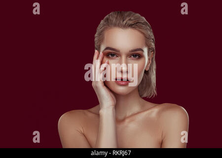 Famous professional photo model working all day - Stock Photo