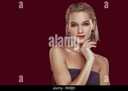 Slim model feeling busy while working hard all day - Stock Photo