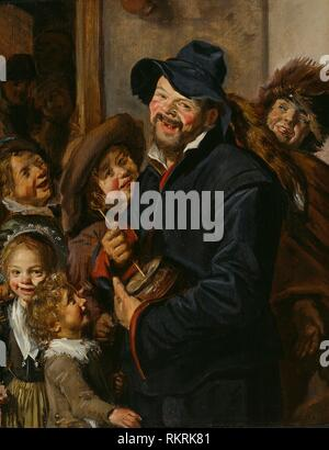 The Rommel-Pot Player - c. 1630 - Follower of Frans Hals Dutch, 1582/83-1666 - Artist: Follower of Frans Hals, Origin: Netherlands, Date: 1625-1635, - Stock Photo
