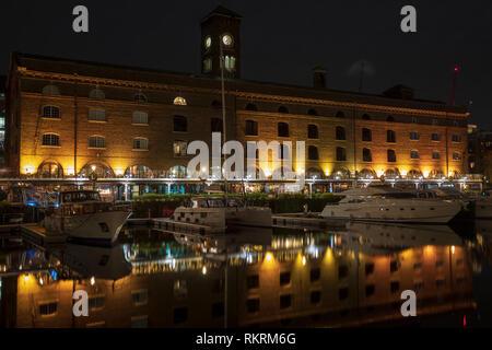 St. Katharine Dock in London, England. - Stock Photo