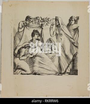 Love Tormented by Considerations Great and Small - 1817-20 - Dominique-Vivant Denon French, 1747-1825 - Artist: Dominique-Vivant Denon, Origin: - Stock Photo