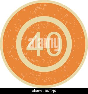 Vector Speed limit 40 Icon Sign Icon Vector Illustration For Personal And Commercial Use... Clean Look Trendy Icon... - Stock Photo
