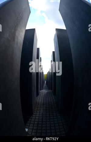 Holocaust Memorial, Memorial to the Murdered Jews of Europe, Germany, Berlin. - Stock Photo