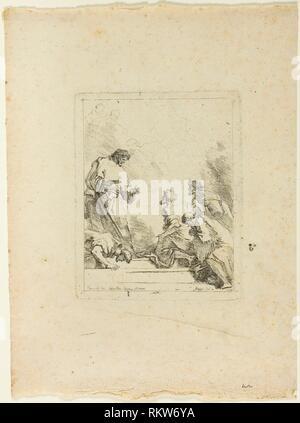 Institution of the Eucharist - 1764 - Jean Honoré Fragonard (French, 1732-1806) after Sebastiano Ricci (Italian, 1659-1734) - Artist: Jean Honoré - Stock Photo