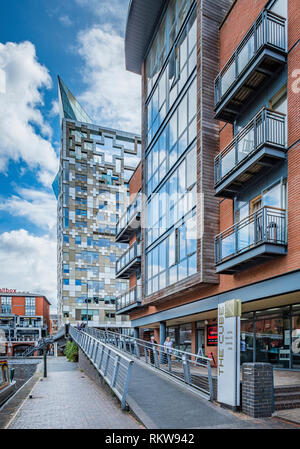 The Cube in central Birmingham is a 25 storey mixed use development. - Stock Photo
