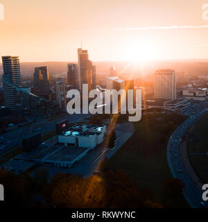 Skyscrapers in Downtown of Vilnius, Lithuania - Stock Photo