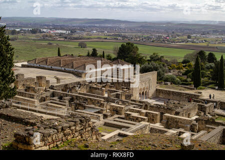Cordoba, Spain, 30th January 2019. the ruins of Medina Azahara a vast  Moorish medieval palace-city built by Abd-ar-Rahman III (912–961). - Stock Photo