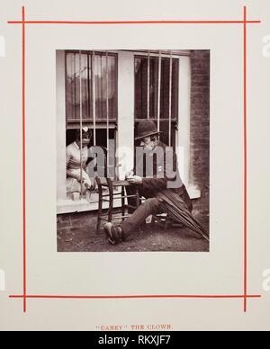 '''Caney'' the Clown - 1877 - John Thomson Scottish, 1837–1921 - Artist: John Thomson, Origin: Scotland, Date: 1877, Medium: Woodburytype, from the - Stock Photo