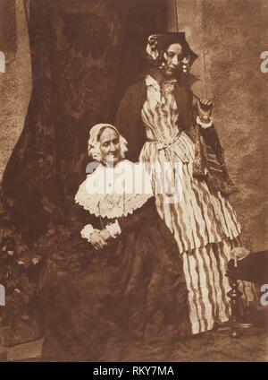 Mrs. Anne Rigby and Lady Elizabeth Eastlake - 1843/47, printed c. 1916 - David Octavius Hill (Scottish, 1802–1870) and Robert Adamson (Scottish, - Stock Photo