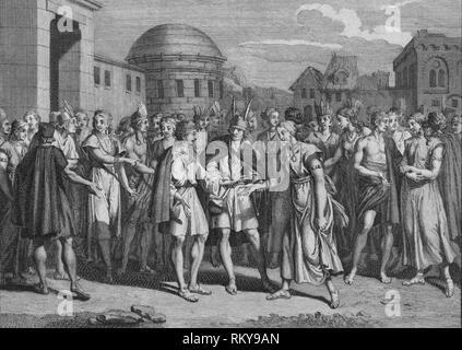 'Maniere dont L'Yncas marie Ceux de son Sang', 1723.  Creator: Bernard Picart. - Stock Photo