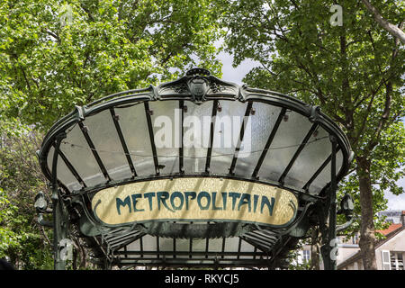 Art Nouveau Metro Stations in Paris - Stock Photo