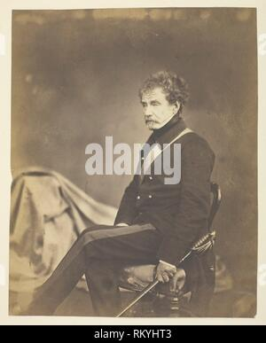 Sir Colin Campbell Lord Clyde (1792-1863), Field Marshal; At the Crimea - 1855 - Roger Fenton English, 1819–1869 - Artist: Roger Fenton, Origin: - Stock Photo