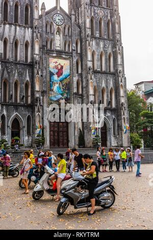 St. Joseph's Cathedral is a late 19th-century Gothic Revival (Neo-Gothic style ) church that serves as the cathedral of the Roman Catholic - Stock Photo