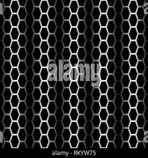 Seamless black tire track background with blended lines - Stock Photo