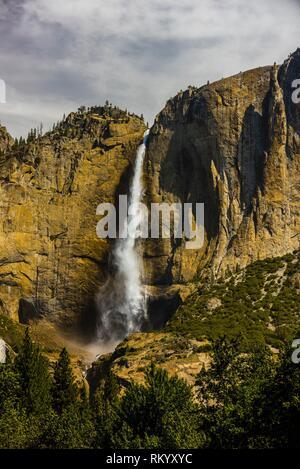 Upper Yosemite Fall, Yosemite National Park, California USA. - Stock Photo