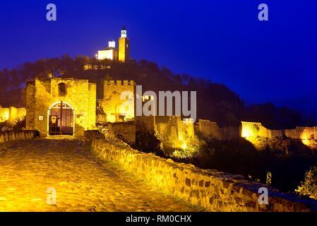 Fortress in Tsarevets hill, Veliko Tarnovo, Bulgaria. - Stock Photo