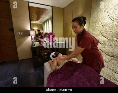 Pampering spa treatment, Bangkok, Thailand. - Stock Photo