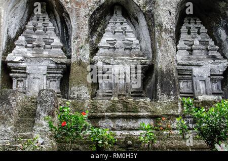 Gunung Kawi The Rocky Temple, Tampaksiring, Bali, Indonesia. - Stock Photo