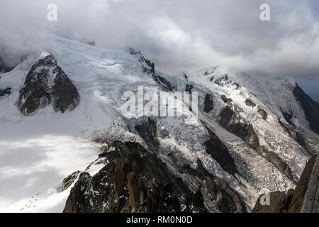 Chamonix, Aiguille du Midi, Haute Savoie, France, Europe. - Stock Photo