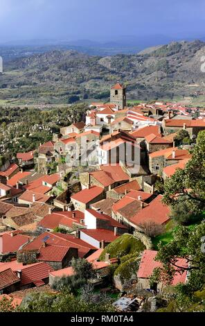 General view of Monsanto village, Monsanto, Castelo Branco, Portugal. - Stock Photo