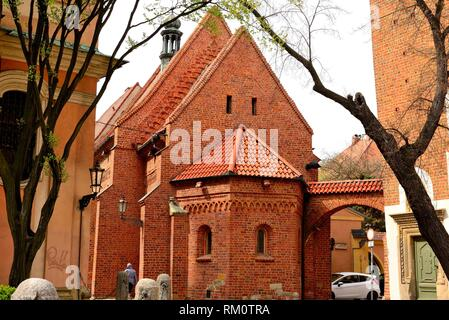 Church of Saint Giles in the islands of Wroclaw or Breslau, Poland. - Stock Photo