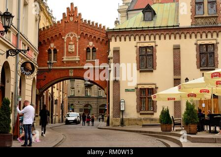 Pijarska street of Krakow, Poland. - Stock Photo