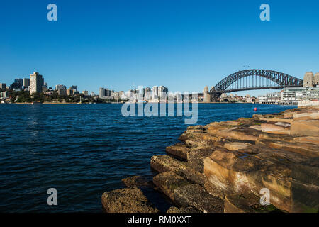 A view toward the Sydney skyline. - Stock Photo