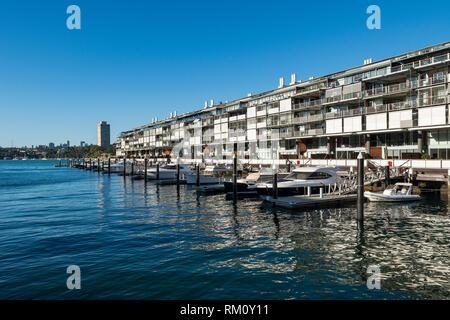 Waterside Sydney dwellings. - Stock Photo